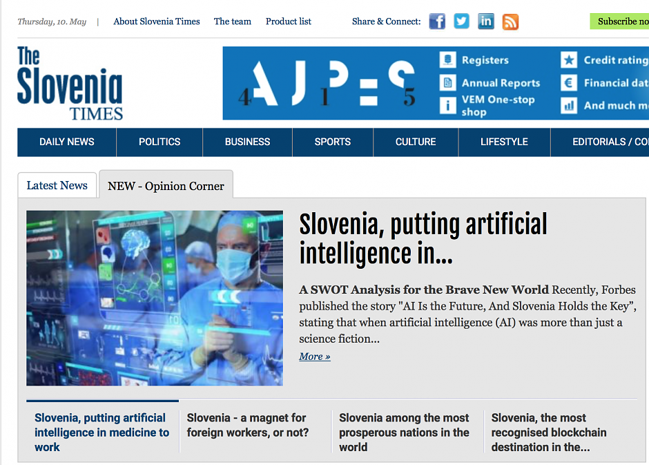Slovenia, putting artificial intelligence in medicine to work